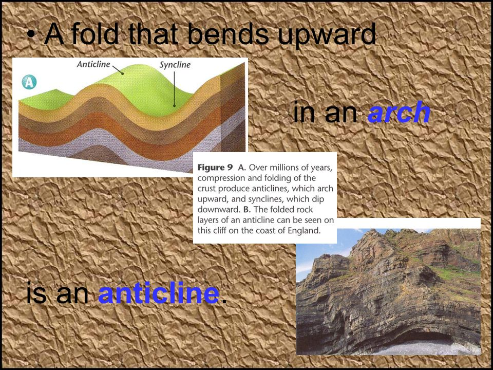 A fold that bends upward