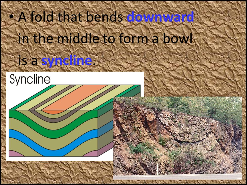 A fold that bends downward