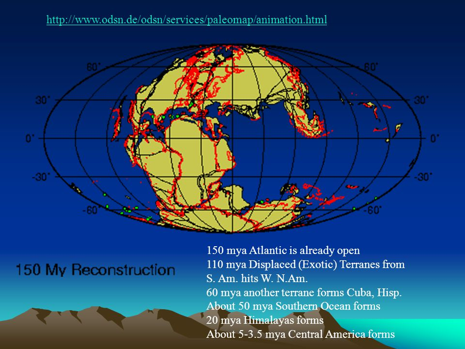 http://www.odsn.de/odsn/services/paleomap/animation.html 150 mya Atlantic is already open.