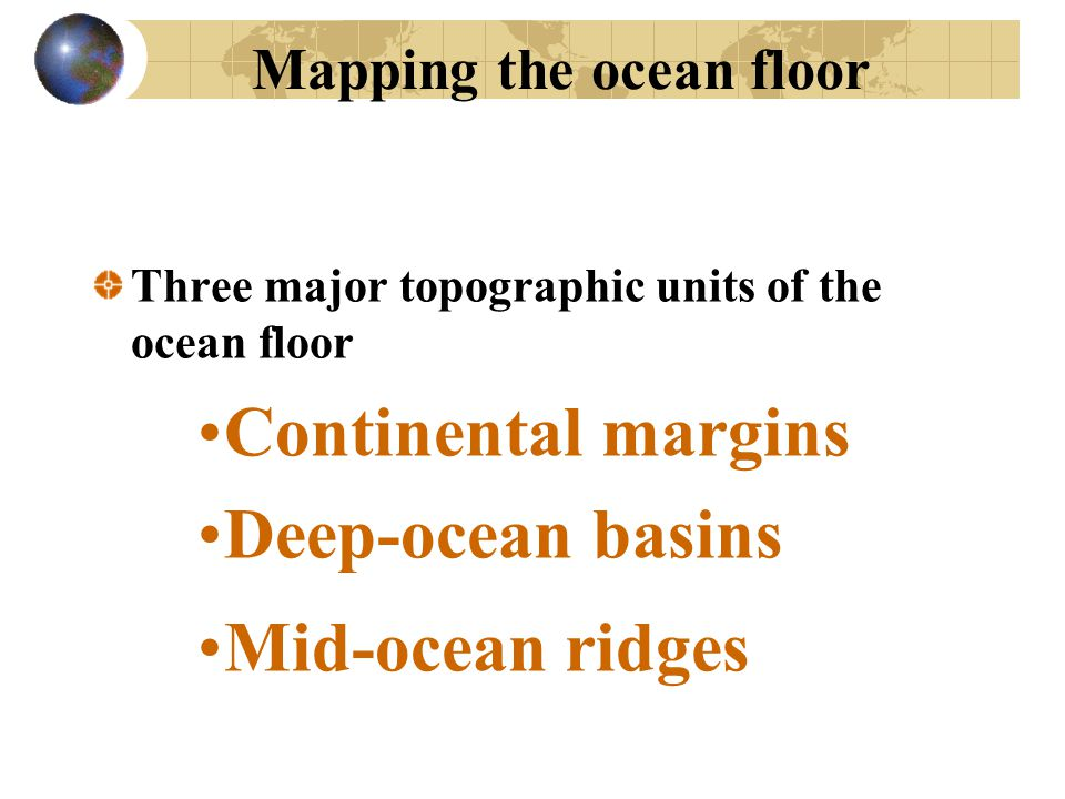 Mapping the ocean floor