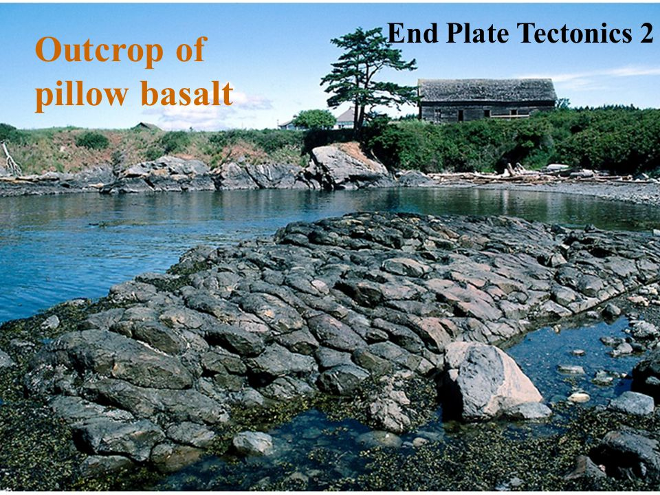 End Plate Tectonics 2 Outcrop of pillow basalt
