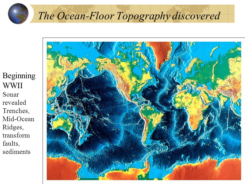 The Ocean-Floor Topography discovered