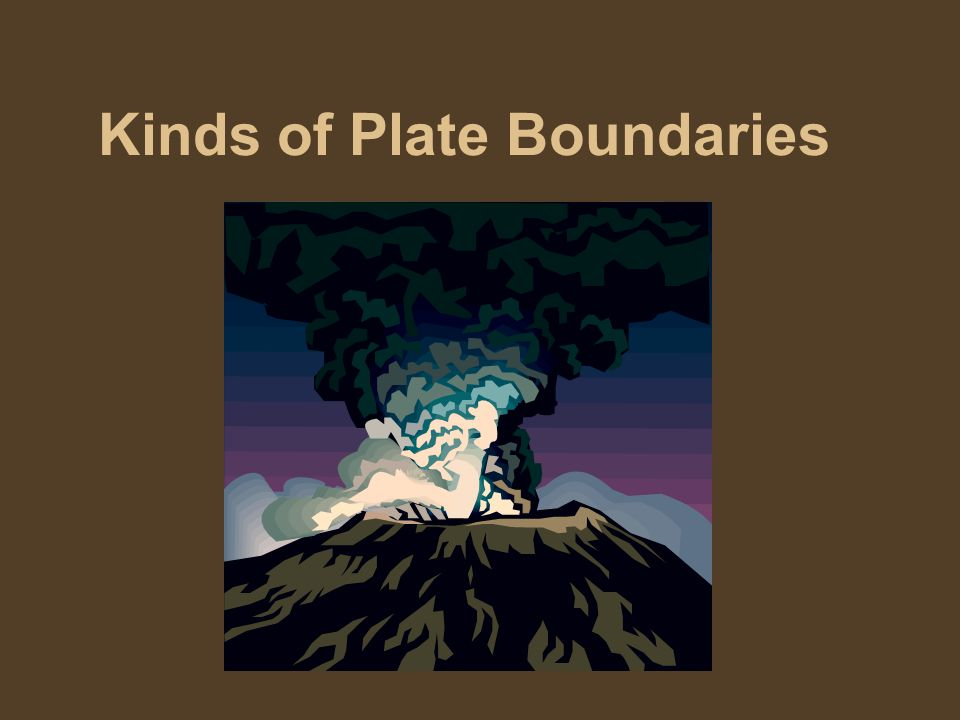 Kinds of Plate Boundaries