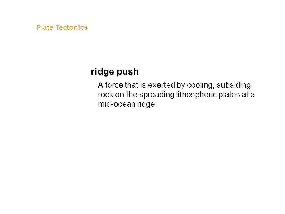 Plate Tectonics ridge push.