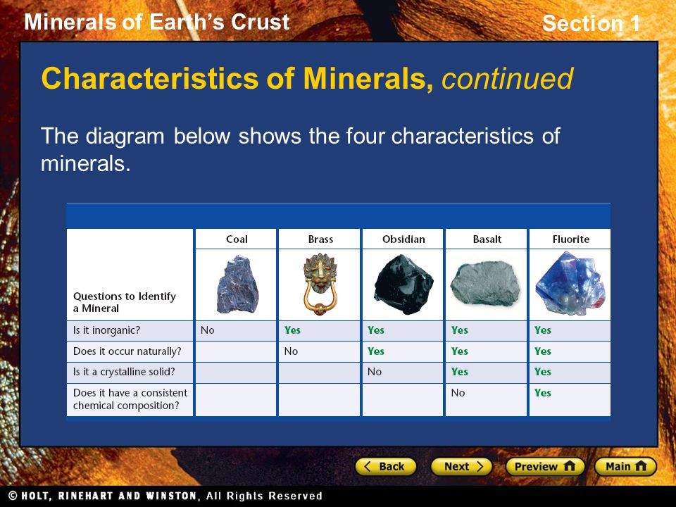 Section 1: What Is a Mineral?