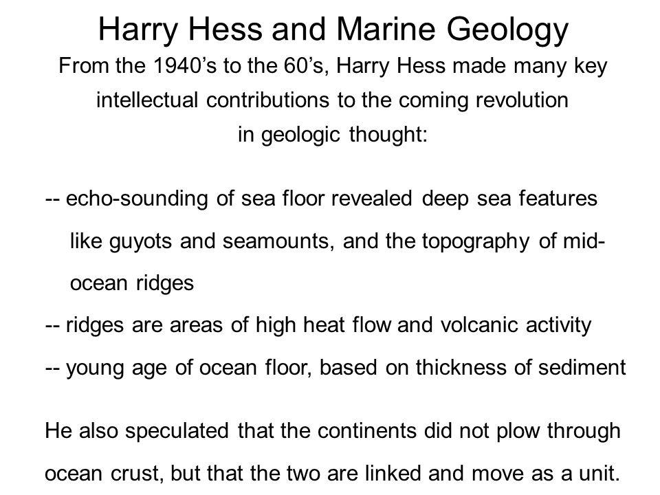 Harry Hess and Marine Geology