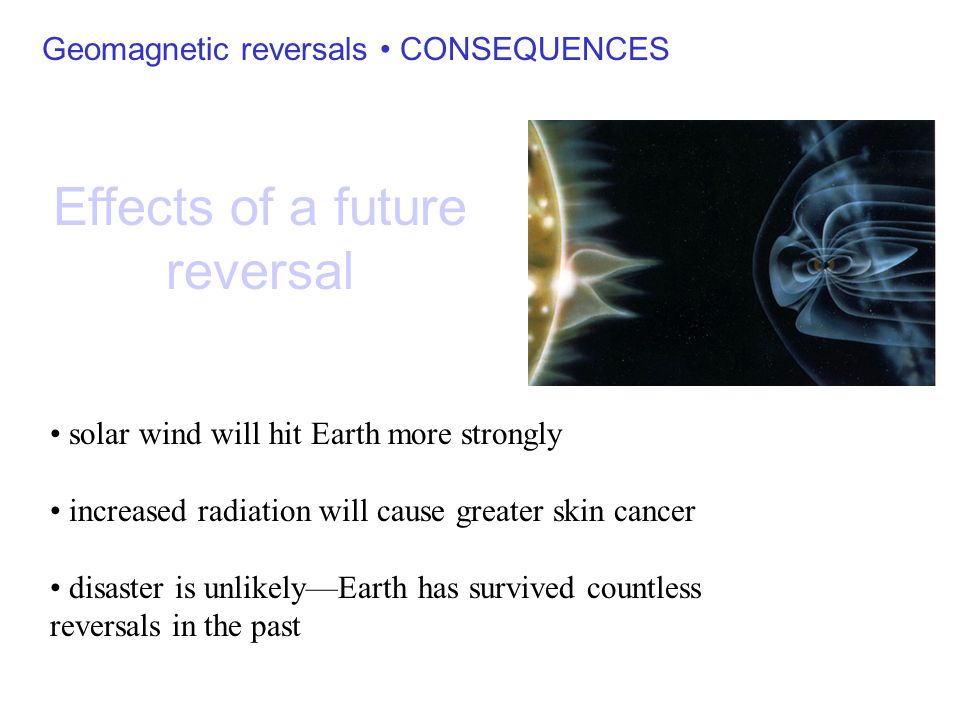 Effects of a future reversal