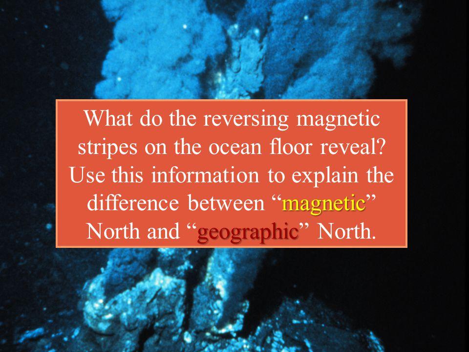 What do the reversing magnetic stripes on the ocean floor reveal