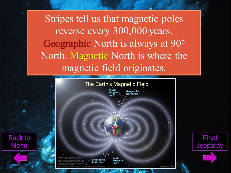 Stripes tell us that magnetic poles reverse every 300,000 years