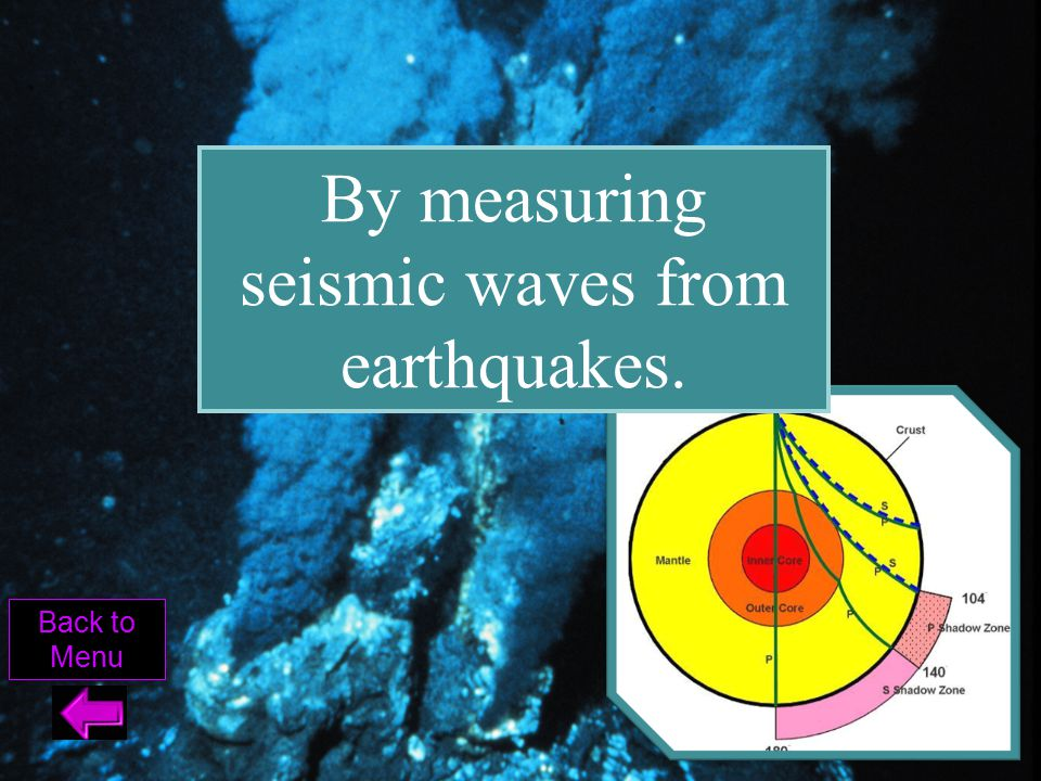 By measuring seismic waves from earthquakes.