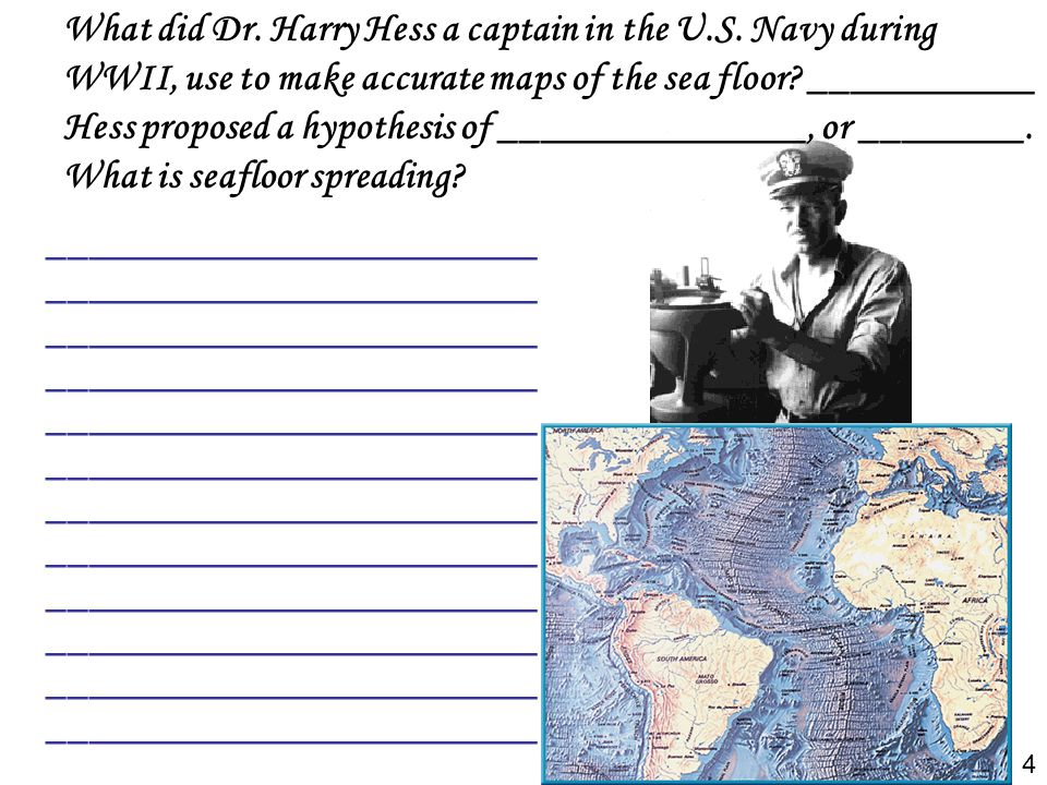 What did Dr. Harry Hess a captain in the U. S
