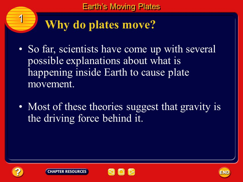 Earth's Moving Plates 1. Why do plates move