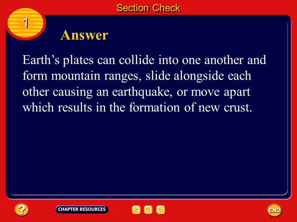 Section Check 1. Answer.