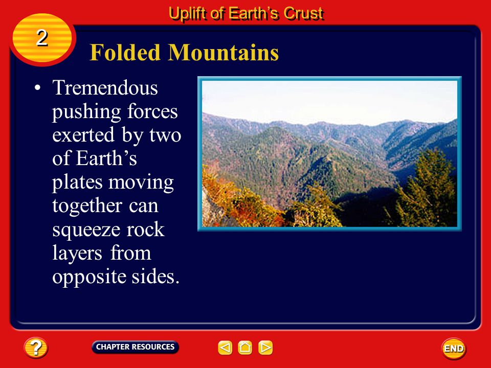 Uplift of Earth's Crust