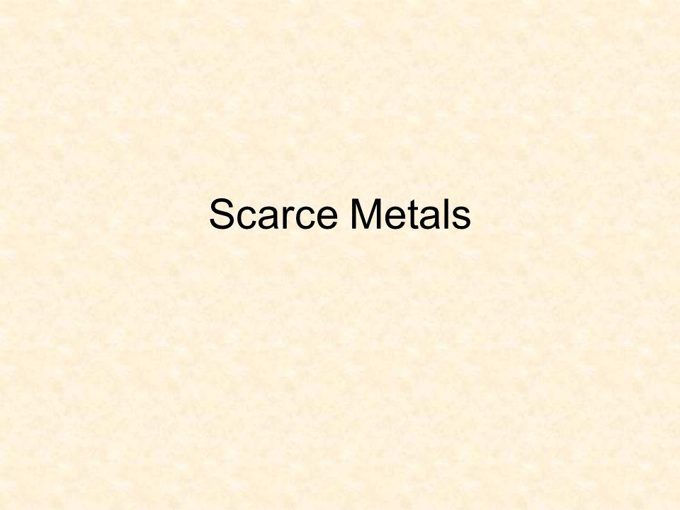 Scarce Metals