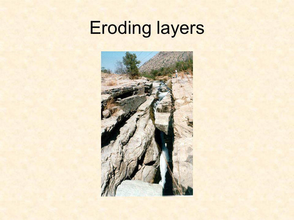 Eroding layers