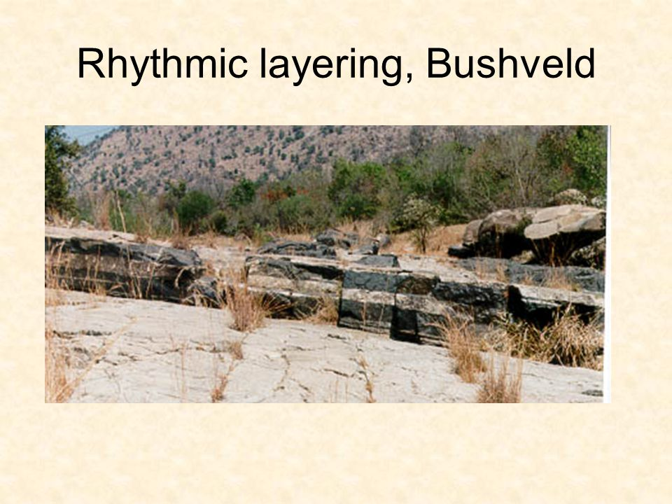 Rhythmic layering, Bushveld