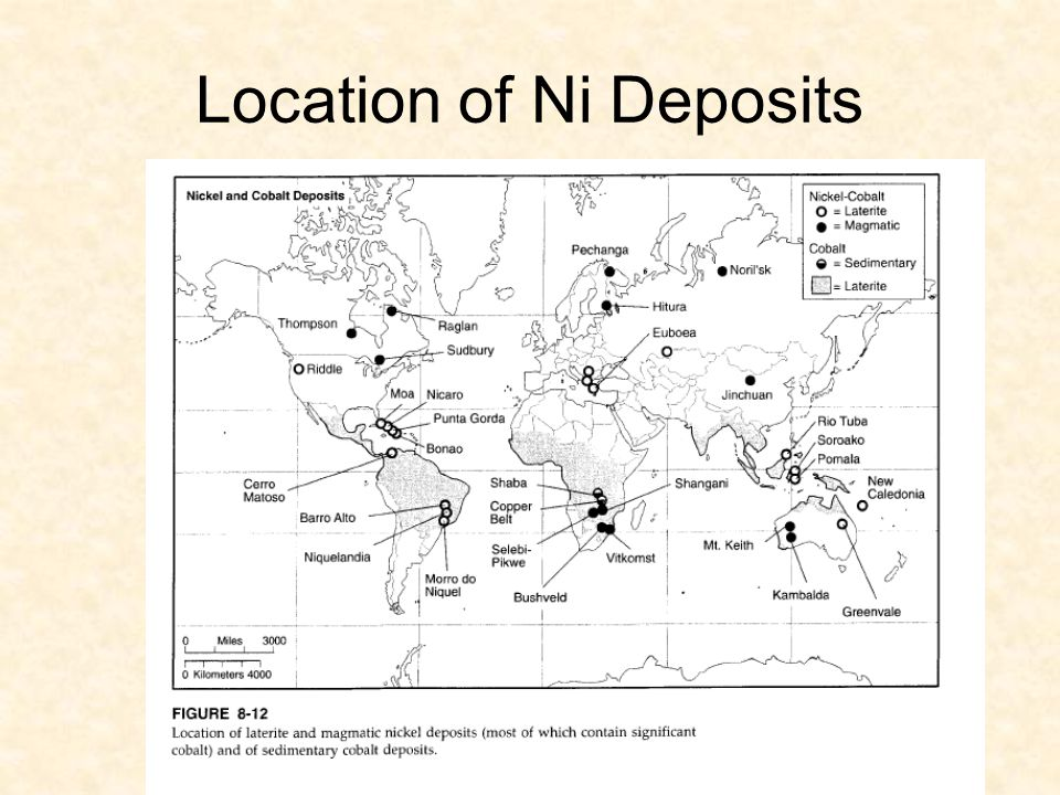 Location of Ni Deposits