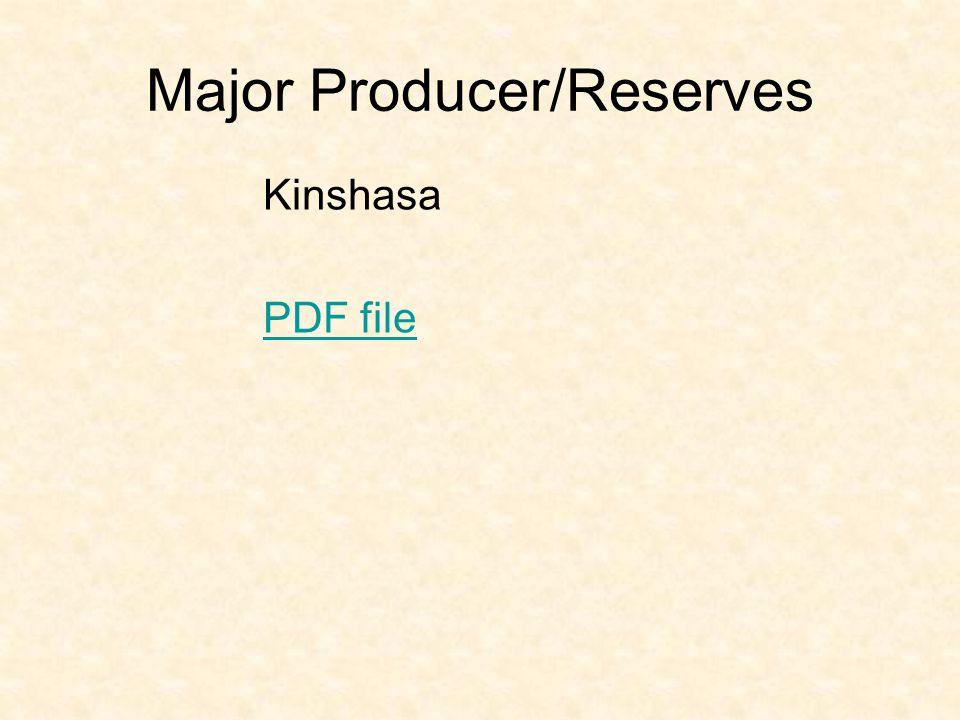 Major Producer/Reserves