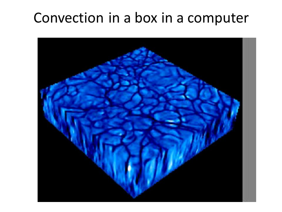 Convection in a box in a computer