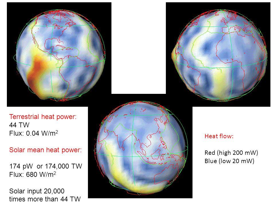 Terrestrial heat power: 44 TW
