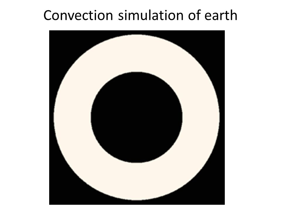 Convection simulation of earth