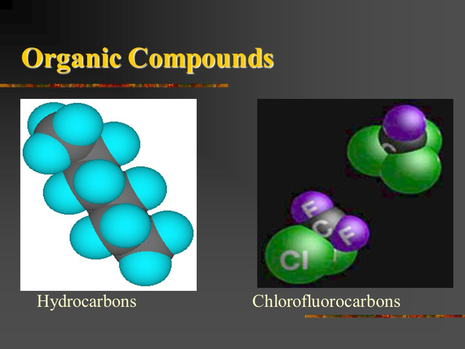Organic Compounds Hydrocarbons Chlorofluorocarbons