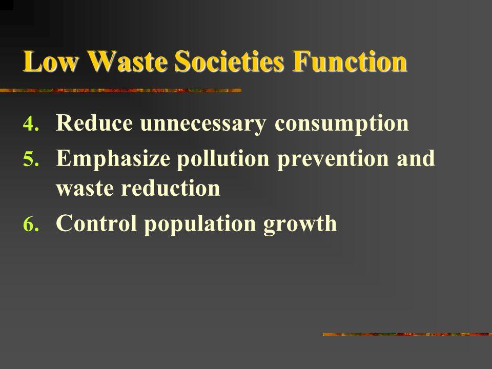 Low Waste Societies Function