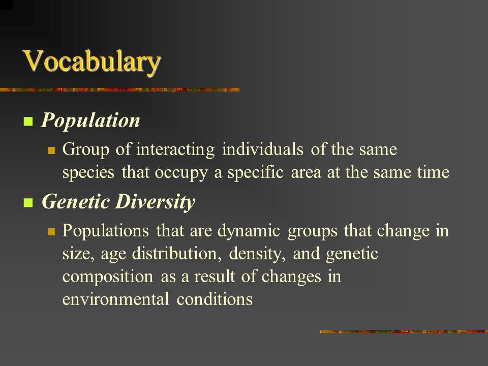 Vocabulary Population Genetic Diversity