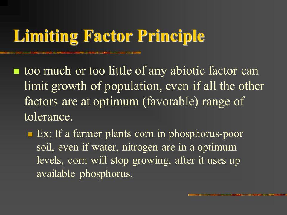 Limiting Factor Principle