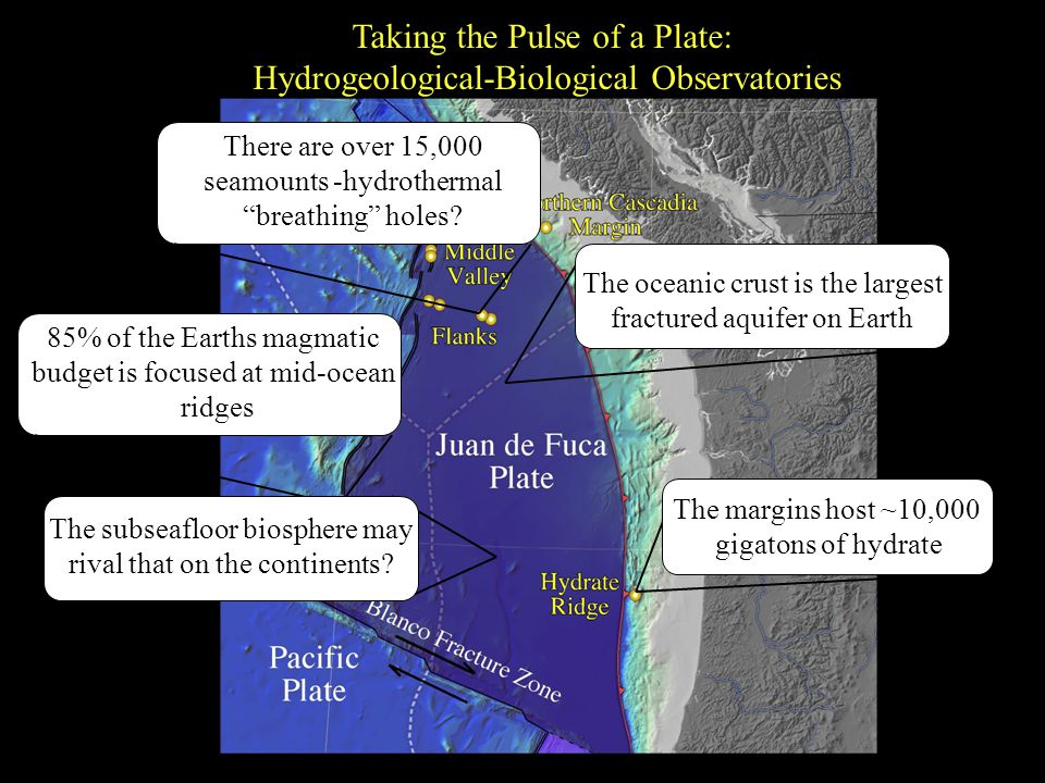 Taking the Pulse of a Plate: Hydrogeological-Biological Observatories