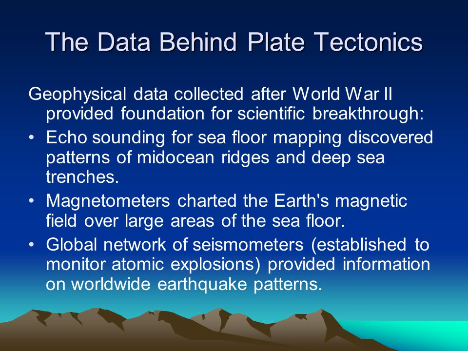 The Data Behind Plate Tectonics