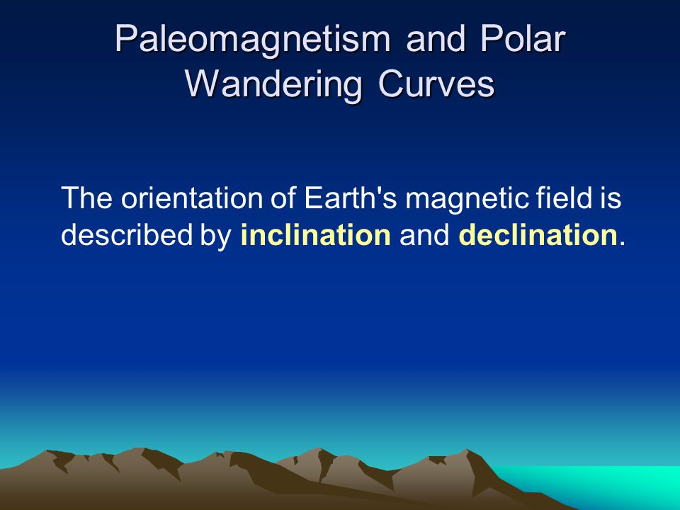 Paleomagnetism and Polar Wandering Curves