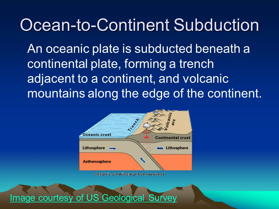 Ocean-to-Continent Subduction