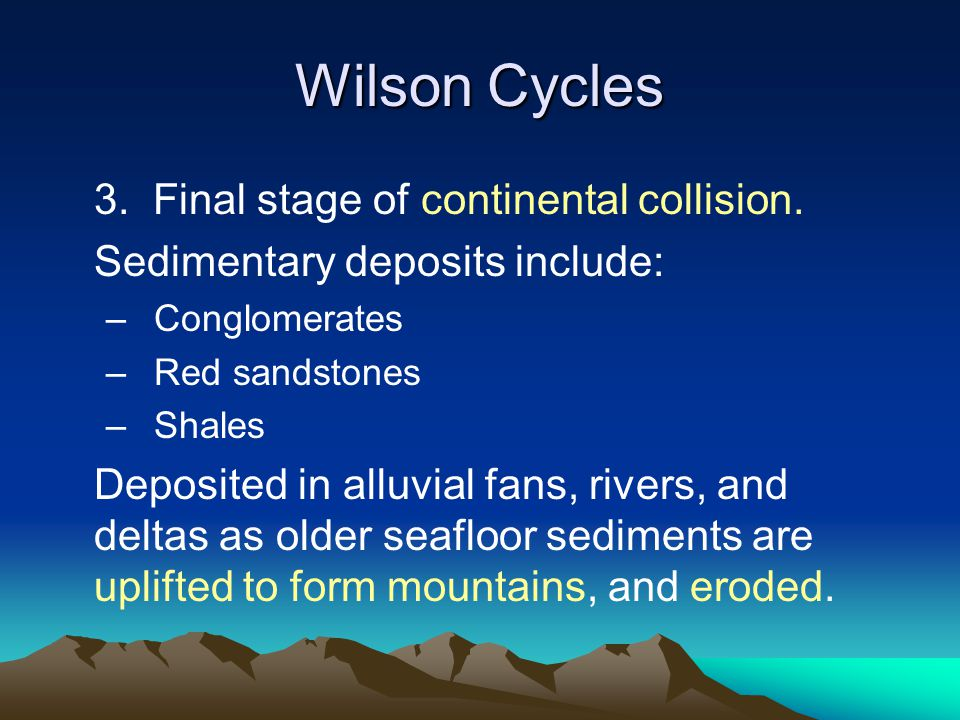 Wilson Cycles 3. Final stage of continental collision.