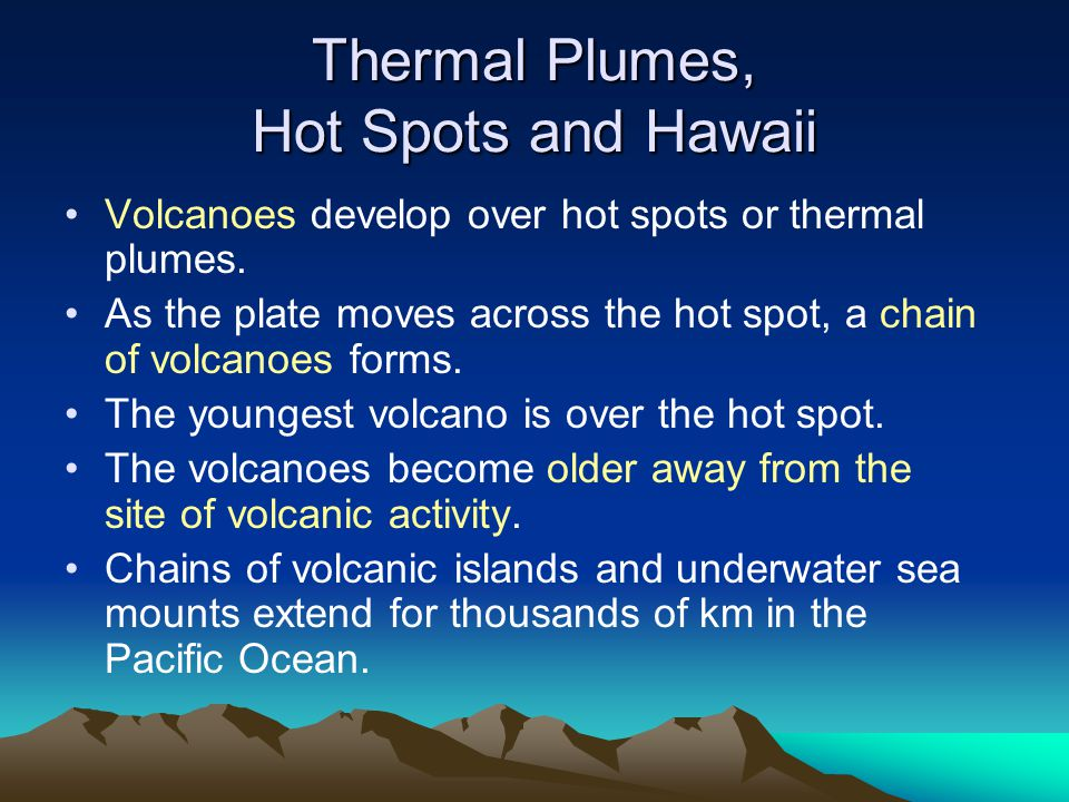 Thermal Plumes, Hot Spots and Hawaii