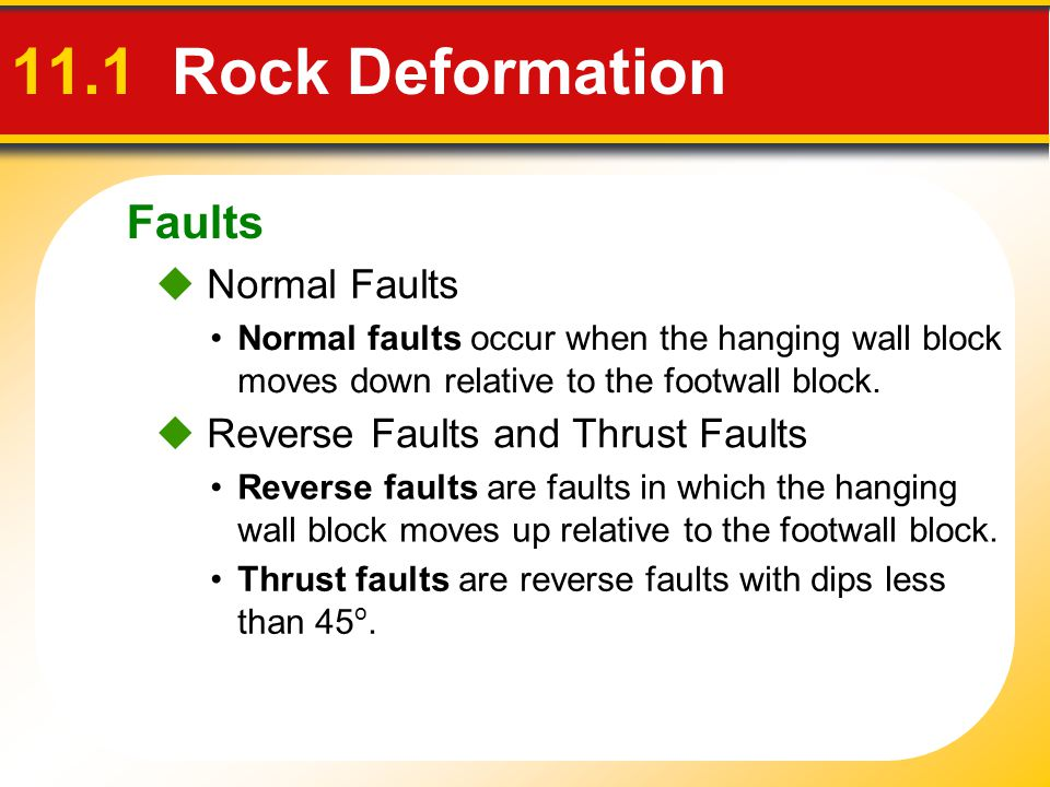 11.1 Rock Deformation Faults  Normal Faults