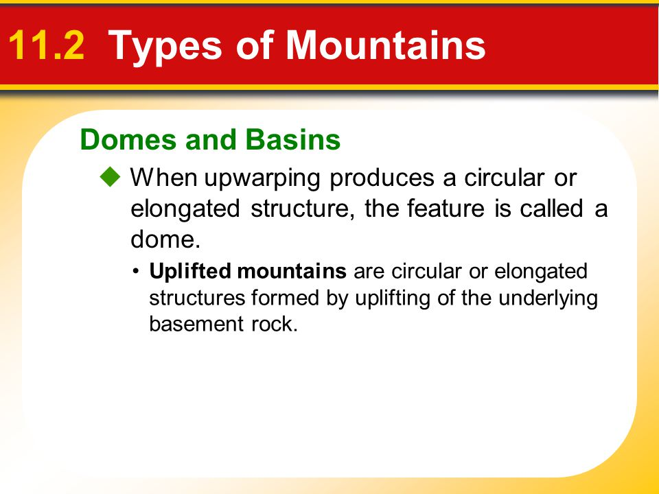 11.2 Types of Mountains Domes and Basins