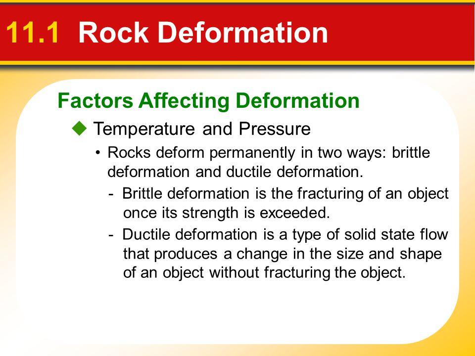 11.1 Rock Deformation Factors Affecting Deformation