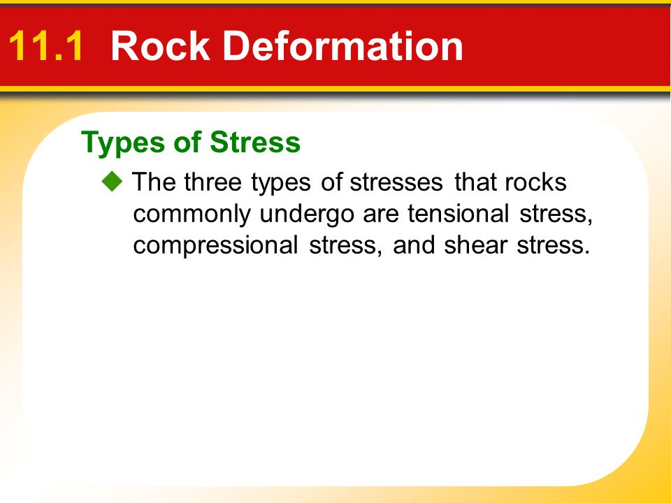 11.1 Rock Deformation Types of Stress