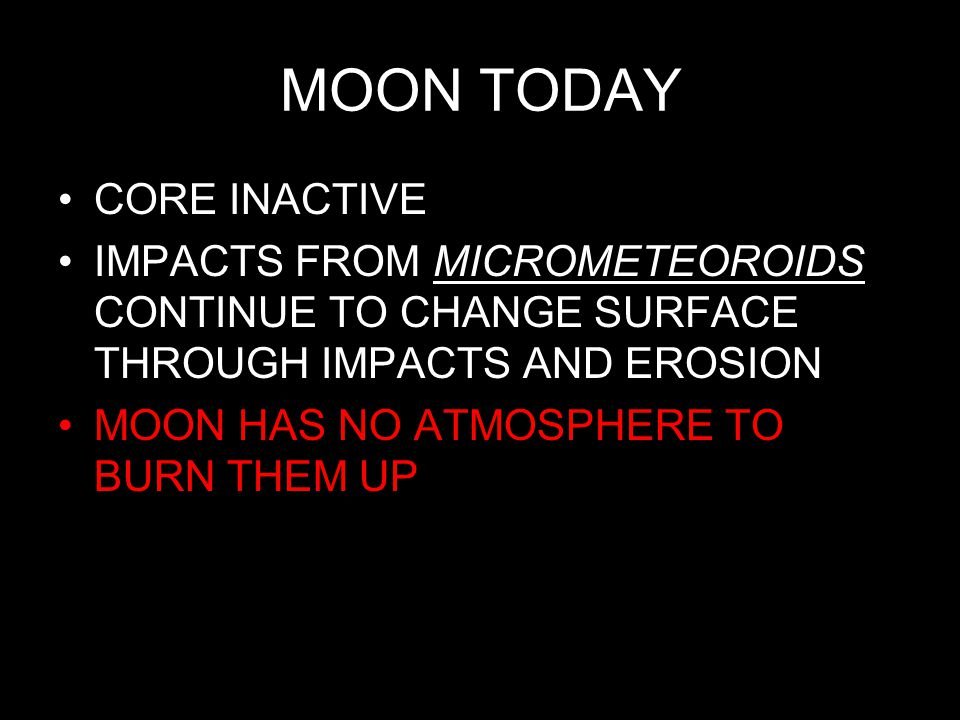 MOON TODAY CORE INACTIVE