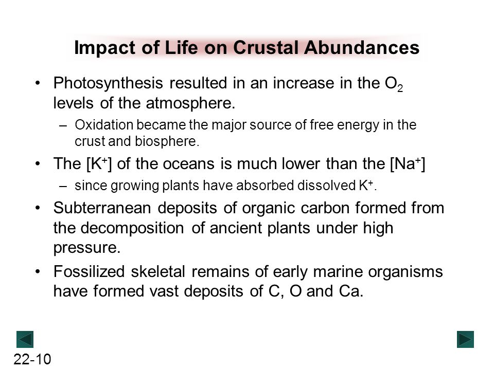 Impact of Life on Crustal Abundances