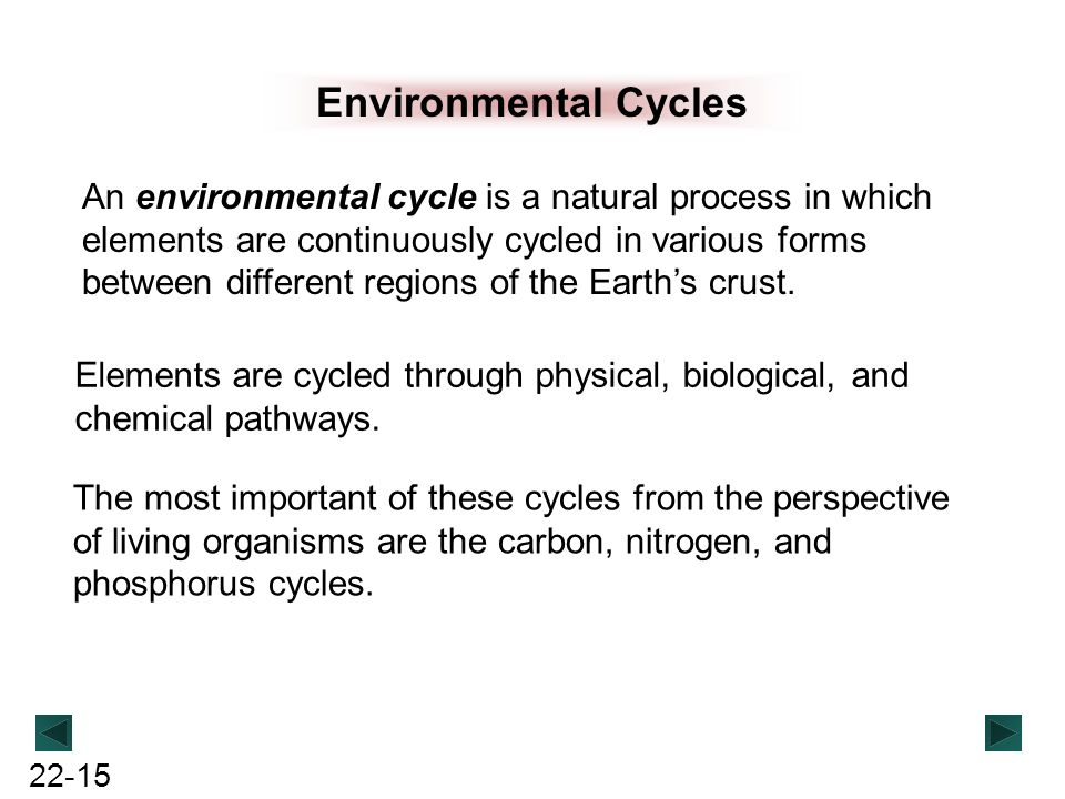 Environmental Cycles