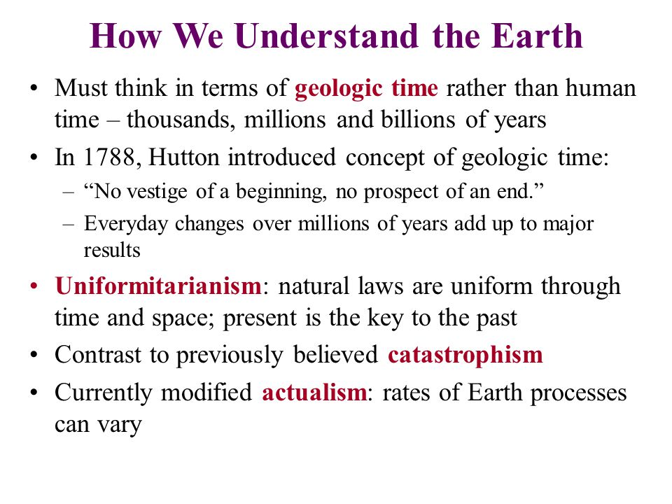 How We Understand the Earth