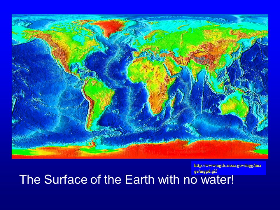 The Surface of the Earth with no water!