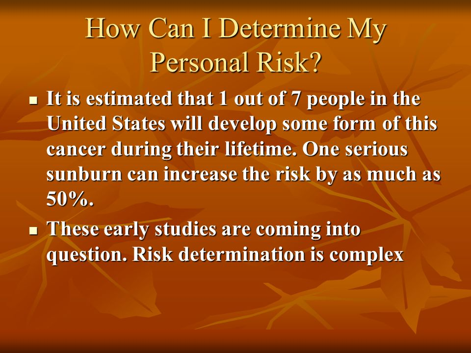 How Can I Determine My Personal Risk