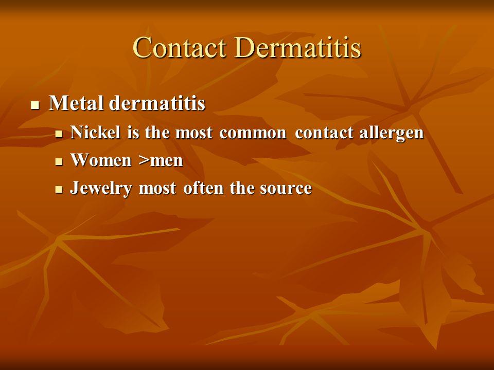 Contact Dermatitis Metal dermatitis