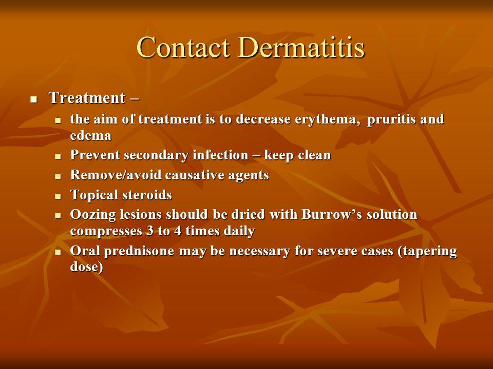 Contact Dermatitis Treatment –