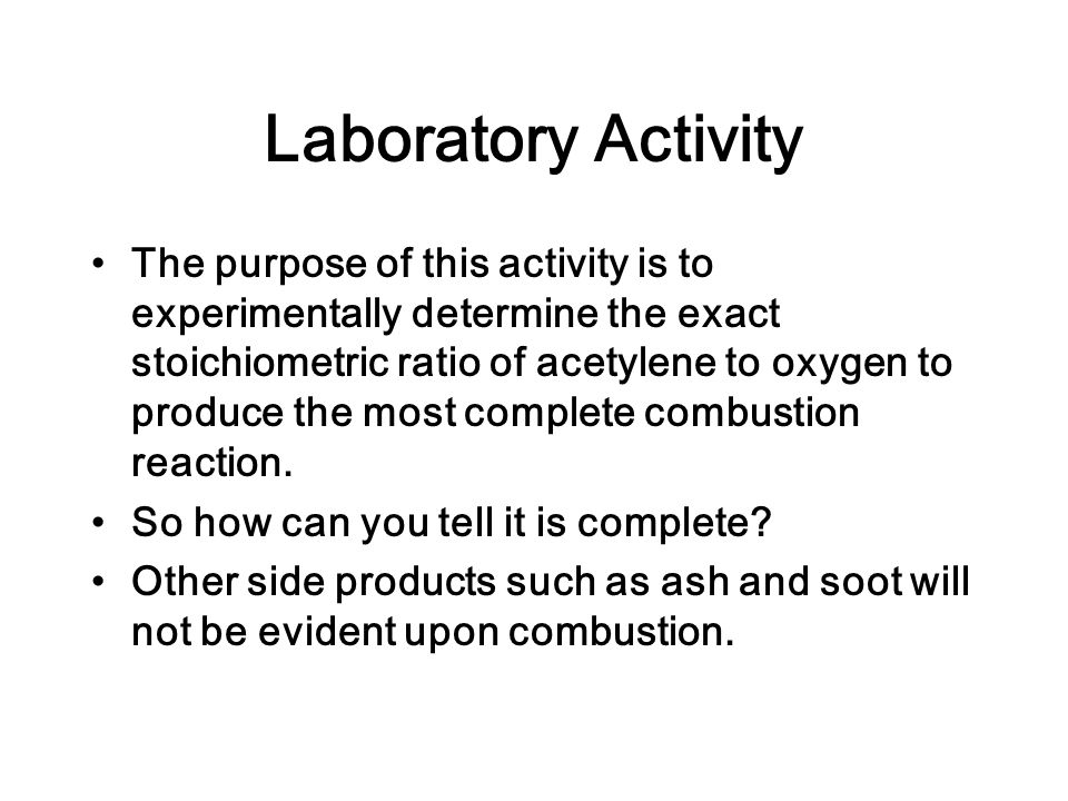 Laboratory Activity