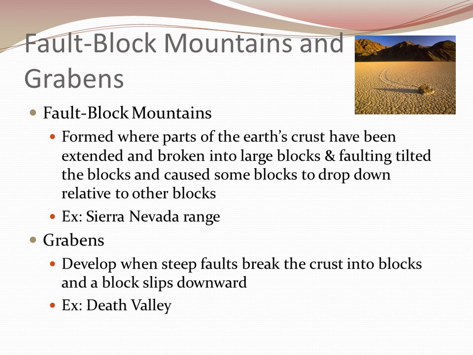 Fault-Block Mountains and Grabens